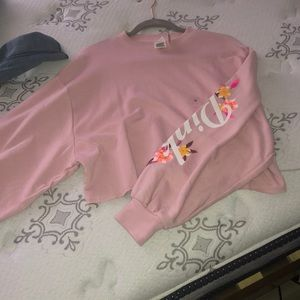 pink vs cropped sweater